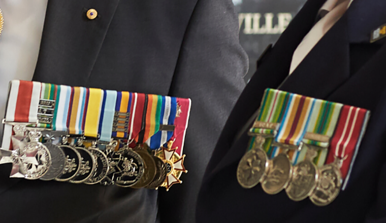The medal groups of two veterans. One who served in the Australian Army, the other in the Navy