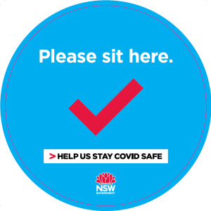 COVID-19 poster: Please sit here