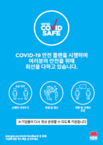 COVID-19 poster: We are COVID Safe - Korean