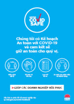 COVID-19 poster: We are COVID Safe - Vietnamese