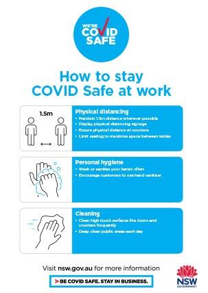 COVID-19 poster - Shopping malls