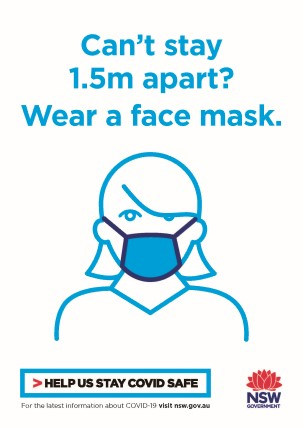 COVID-19 poster thumbnail: wear a mask (white).