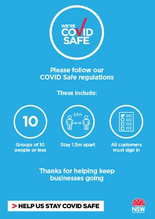 COVID-19 poster - Please follow our regulations