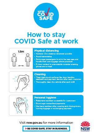 COVID-19 poster - Transport