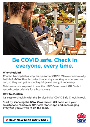 COVID-19 poster: QR code check-in poster series.