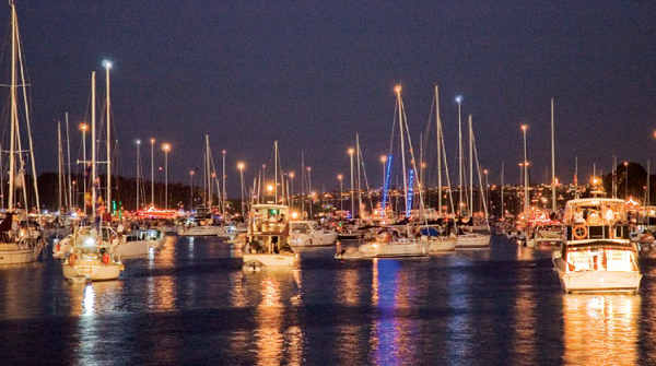 Boats require lights at night for safety
