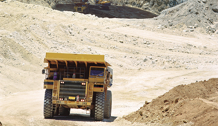 Image of a haul truck at a mine site