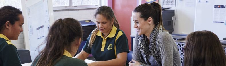 Aboriginal students learning in a classroom