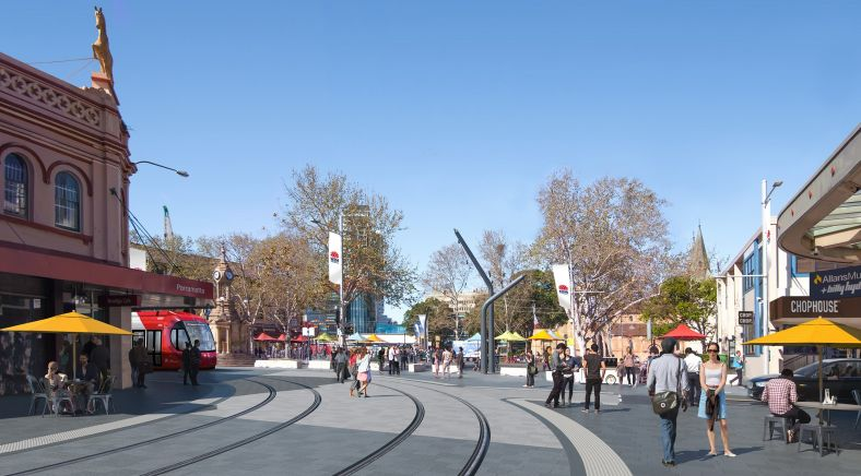 Artist's impression of the Parramatta Light Rail