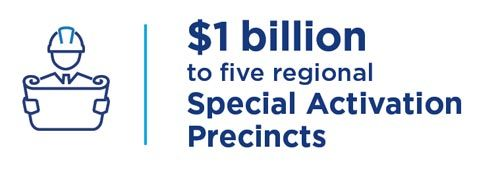 $1 billion to five regional Special Activation Precincts