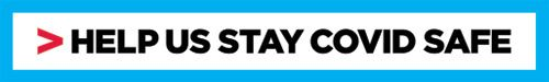 Help us stay COVID Safe logo