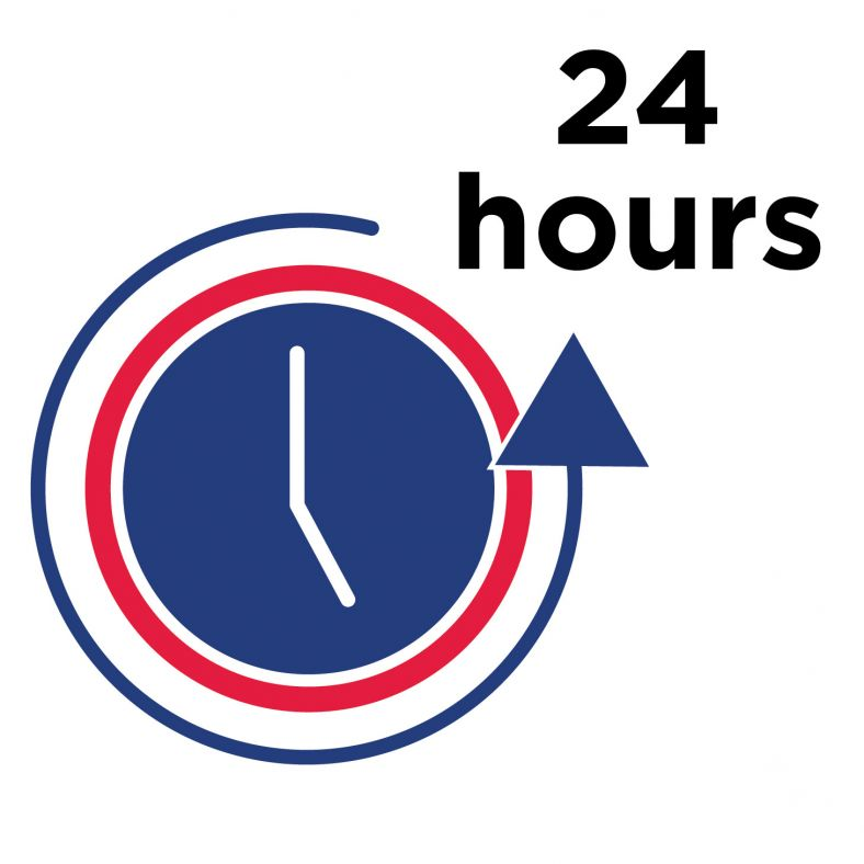 Icon showing 24 hours
