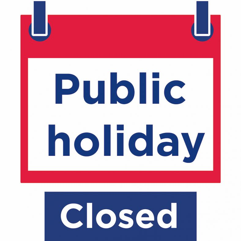Icon showing public holidays closed