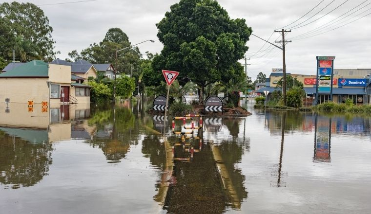 Floodwater in Lismore NSW